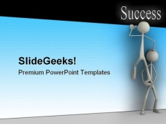 Climbing People Success PowerPoint Themes And PowerPoint Slides 0511
