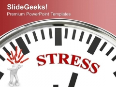 Clock And 3d Man With Word Stress PowerPoint Templates Ppt Backgrounds For Slides 0213