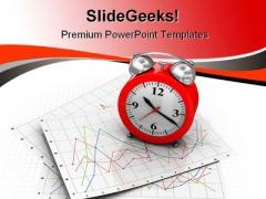 Clock Future PowerPoint Template 1010