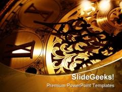 Clock Future PowerPoint Template 1110