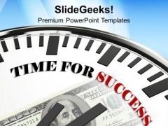Clock Time For Success Future Goal PowerPoint Templates Ppt Backgrounds For Slides 0113