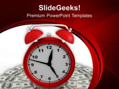 Clock With Finance Goal PowerPoint Templates Ppt Backgrounds For Slides 0413