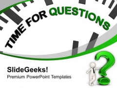 Clock With Tag Time For Questions PowerPoint Templates Ppt Backgrounds For Slides 0213