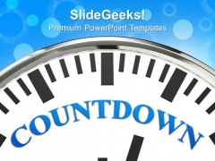 Clock With Word Countdown Time Planning PowerPoint Templates And PowerPoint Themes 0812