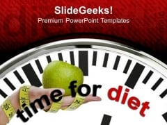 Clock With Words Time For Diet PowerPoint Templates Ppt Backgrounds For Slides 0213