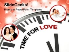Clock With Words Time For Love PowerPoint Templates Ppt Backgrounds For Slides 0313