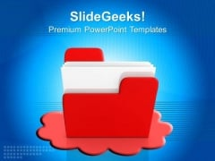 Cloud Computer Folder Internet PowerPoint Templates And PowerPoint Themes 0812