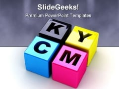 Cmyk Communication PowerPoint Template 0910
