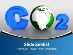 Co2 With Green Earth Globe PowerPoint Templates Ppt Backgrounds For Slides 0213