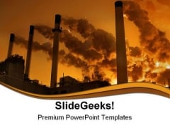 Coal Burning Power Plant Industrial PowerPoint Templates And PowerPoint Backgrounds 0211