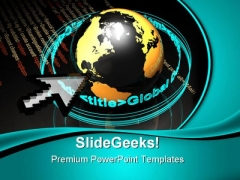 Code Makes The World Globe PowerPoint Themes And PowerPoint Slides 0511