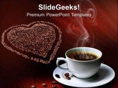 Coffee Beans With Love Entertainment PowerPoint Templates Ppt Backgrounds For Slides 0313
