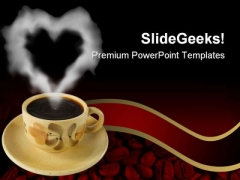 Coffee With Beans Food PowerPoint Templates And PowerPoint Backgrounds 0311