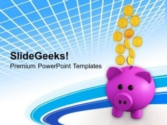 Coins Dollar Coins PowerPoint Templates Ppt Backgrounds For Slides 0213