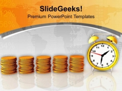 Coins Growth Depends On Time PowerPoint Templates Ppt Backgrounds For Slides 0413