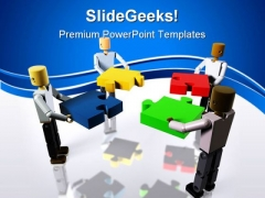 Collaborating To Build Business PowerPoint Themes And PowerPoint Slides 0411