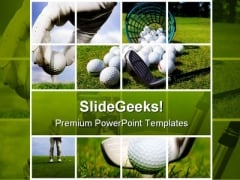 Collage Of Golf Sports PowerPoint Templates And PowerPoint Backgrounds 0411