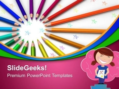 Color Pencils Art PowerPoint Templates And PowerPoint Themes 0812