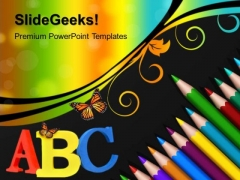 Color Pencils Art PowerPoint Templates And PowerPoint Themes 1012