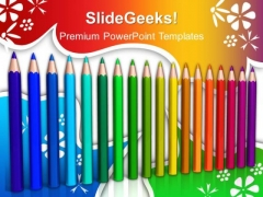 Color Pencils Education PowerPoint Templates And PowerPoint Themes 1012