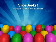 Colored Ballons For Party Theme PowerPoint Templates Ppt Backgrounds For Slides 0413