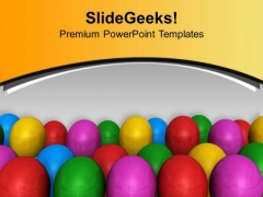 Colored Balloons For Party Theme PowerPoint Templates Ppt Backgrounds For Slides 0513