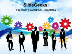 Colored Gears Business PowerPoint Templates And PowerPoint Themes 0512