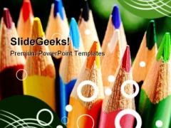 Colored Pencils01 Education PowerPoint Templates And PowerPoint Backgrounds 0311