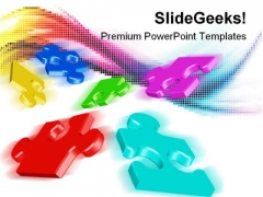Colored Puzzles Abstract PowerPoint Templates And PowerPoint Backgrounds 0711