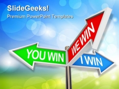 Colorful Arrow Success PowerPoint Themes And PowerPoint Slides 0911
