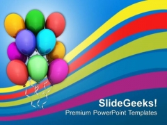 Colorful Balloons Birthday Party PowerPoint Templates Ppt Backgrounds For Slides 0413