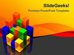 Colorful Bar Chart Business PowerPoint Themes And PowerPoint Slides 0811