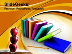 Colorful Books Future PowerPoint Templates And PowerPoint Themes 0812