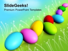 Colorful Easter Eggs Spring Festival PowerPoint Templates Ppt Backgrounds For Slides 0313