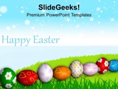 Colorful Eggs Celebration Of Spring Time PowerPoint Templates Ppt Backgrounds For Slides 0313