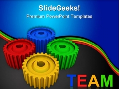 Colorful Gears Team Business PowerPoint Templates And PowerPoint Backgrounds 0511