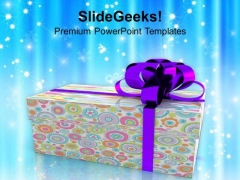 Colorful Gift Box Christmas Celebration PowerPoint Templates Ppt Backgrounds For Slides 0213