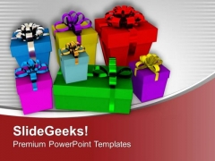 Colorful Gifts For Birthday Party PowerPoint Templates Ppt Backgrounds For Slides 0313