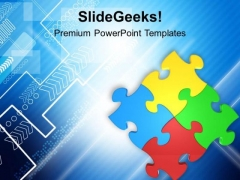 Colorful Jigsaw Puzzle Team Business PowerPoint Templates Ppt Backgrounds For Slides 0313