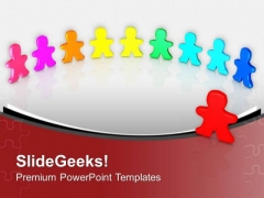Colorful Men Standing Diversity PowerPoint Templates Ppt Backgrounds For Slides 0313