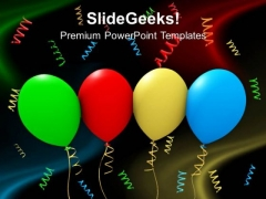 Colorful Party Balloons Background PowerPoint Templates And PowerPoint Themes 1112