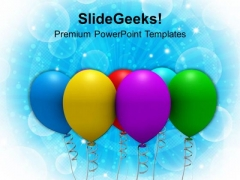 Colorful Party Balloons Celebration PowerPoint Templates Ppt Backgrounds For Slides 1112