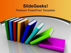 Colorful Pile Of Books Education PowerPoint Templates Ppt Backgrounds For Slides 0213