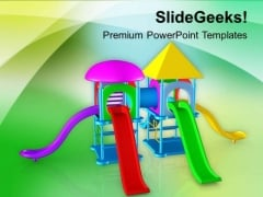 Colorful Playground For Entertainment PowerPoint Templates Ppt Backgrounds For Slides 0613