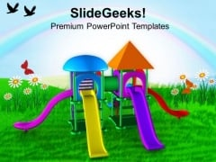 Colorful Playground With Game Theme PowerPoint Templates Ppt Backgrounds For Slides 0613