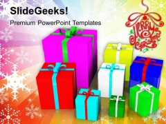 Colorful Presents Holiday PowerPoint Templates And PowerPoint Themes 1012
