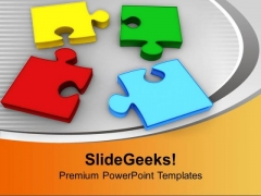 Colorful Puzzle Pieces Placed Together PowerPoint Templates Ppt Backgrounds For Slides 0213