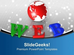 Colorful Web With Globe World PowerPoint Templates Ppt Backgrounds For Slides 0313