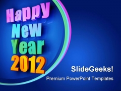 Colorful Words Of New Year Metaphor PowerPoint Templates And PowerPoint Backgrounds 1011