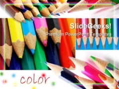 Colors Pencils01 Education PowerPoint Template 0910